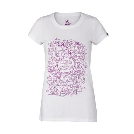 Dámské turistické tričko s krátkým rukávem NORTHFINDER-Natalya-377white