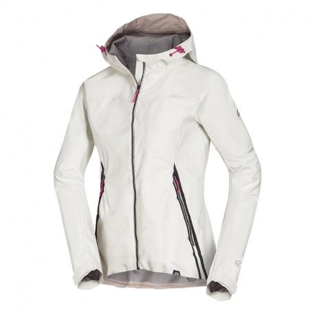 Dámská turistická softshellová bunda NORTHFINDER-rošt -377white