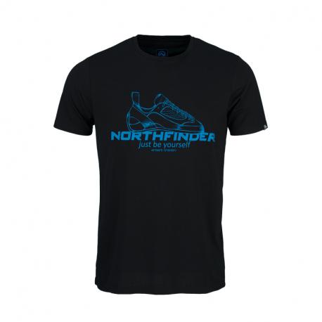 Pánské turistické tričko s krátkým rukávem NORTHFINDER-ALLAN -269black