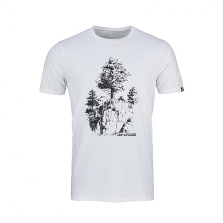 Pánske turistické tričko s krátkym rukávom NORTHFINDER-KARTER -377white