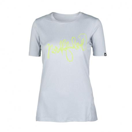 Dámské turistické tričko s krátkým rukávem NORTHFINDER-ALAYSIA-319grey