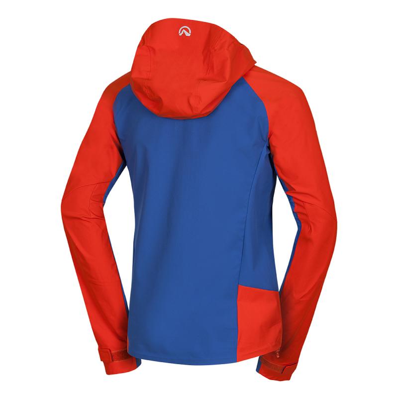 Pánska turistická softshellová bunda NORTHFINDER-ROSTON-171orangeblue -
