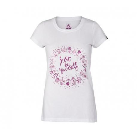 Dámské turistické tričko s krátkým rukávem NORTHFINDER-KYNDAL-377white