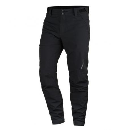 Pánské turistické softshellové kalhoty NORTHFINDER-KETHEN-270blackblack