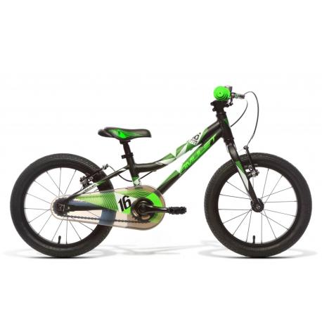 Detský horský bicykel AMULET-Mini 16 Superlite, black matt, size 16, SMU, 2020