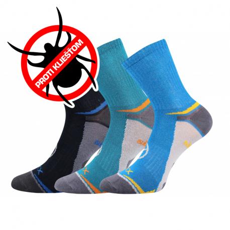 Chlapčenské turistické repelentné ponožky VOXX-Optifanik 03-Blue/Dark blue/light blue