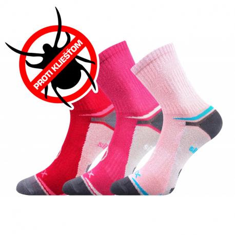 Dívčí turistické repelentní ponožky VOXX-Optifanik 03-Pink / Magenta / Raspberry