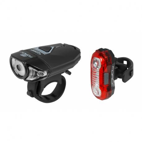 Cyklistické svetlo FORCE-EXPRESS USB FRONT/REAR