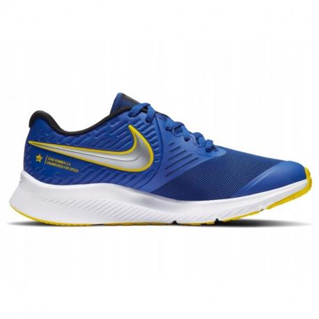 Dětská sportovní obuv (tréninková) NIKE-Star Runner 2 royal blue / silver / yellow / white