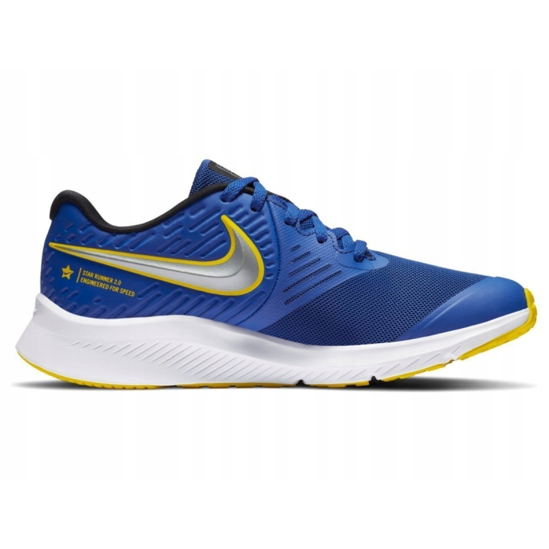 NIKE-Star Runner 2 royal blue/silver/yellow/white Modrá 38,5