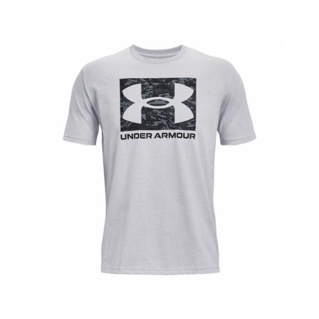Pánske tričko s krátkym rukávom UNDER ARMOUR-UA ABC CAMO BOXED LOGO SS-GRY
