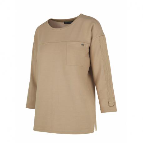Dámska košeľa s dlhým rukávom VOLCANO-L-BISI-BEIGE