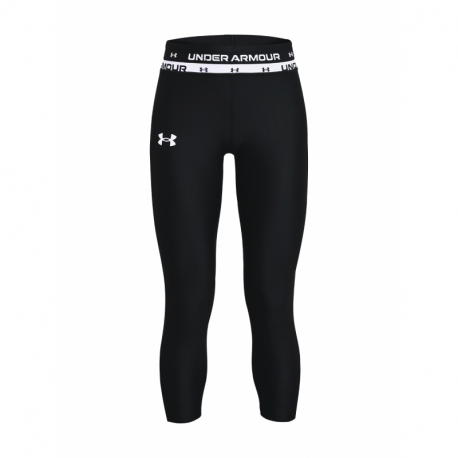 Dívčí tréninkové 3/4 kalhoty UNDER ARMOUR-HG Armour Ankle Crop-BLK