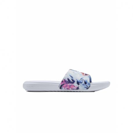 Dámská obuv k bazénu (plážová obuv) UNDER ARMOUR-UA W Ansa Graphic Slides white