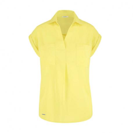 Dámska košeľa s krátkym rukávom VOLCANO-K-ORRIE-CITRON
