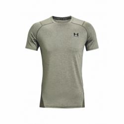 Pánske tréningové tričko s krátkym rukávom UNDER ARMOUR-UA HG Armour Fitted SS-GRN