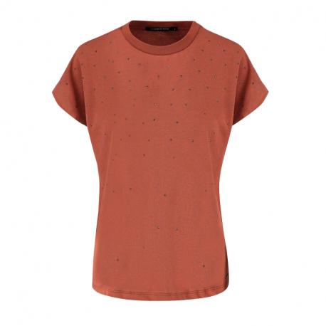 Dámské triko s krátkým rukávem VOLCANO-T-MAURA-TERRACOTA