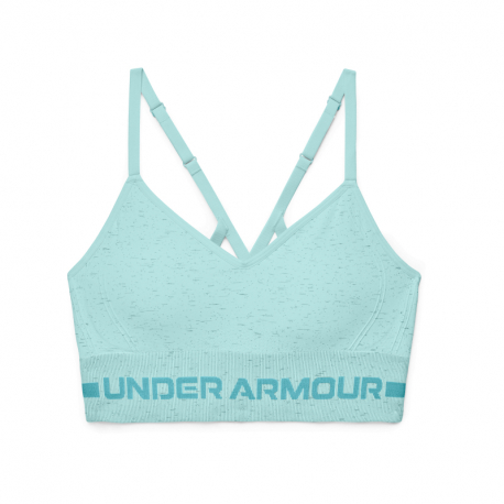 Kompresná podprsenka UNDER ARMOUR-UA Seamless Low Long Htr Bra-BLU
