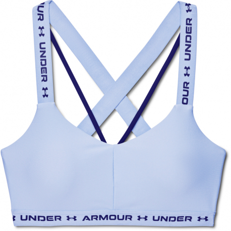 Kompresná podprsenka UNDER ARMOUR-UA Crossback Low-BLU
