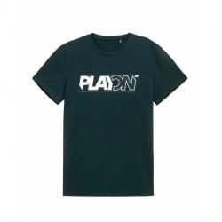 Pánske tričko s krátkym rukávom 4F-MENS T-SHIRT-H4L21-TSM013-40S-DARK GREEN
