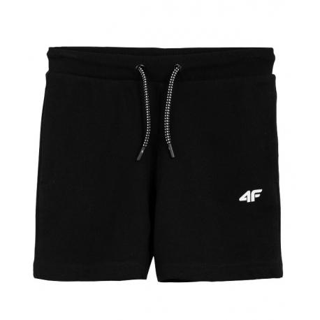 Chlapčenské teplákové kraťasy 4F-BOYS-pants-HJL21-JSKMD001A-20S-Black