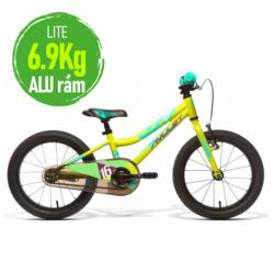 Detský horský bicykel AMULET-Mini 16 Lite, green matt, size 16, SMU, 2020