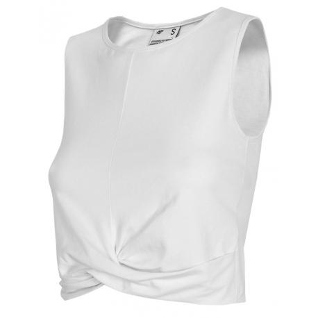 Dámské tréninkové tílko 4F-WOMENS T-SHIRT-H4L21-TSD012-10S-WHITE