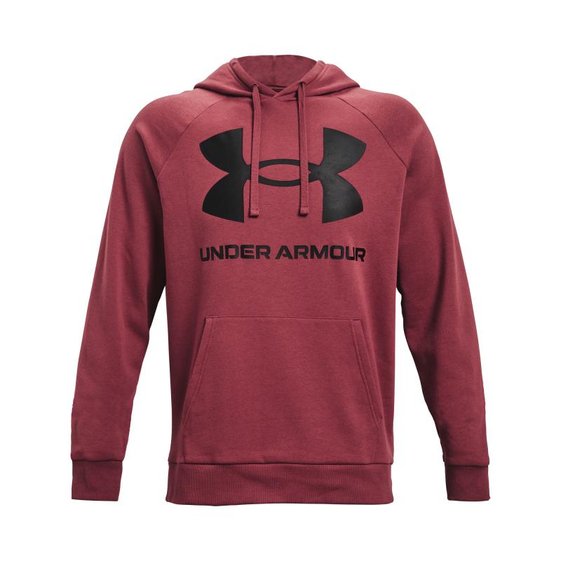 UNDER ARMOUR-UA Rival Fleece Big Logo HD-RED 652 Červená XL