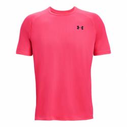 Pánske tréningové tričko s krátkym rukávom UNDER ARMOUR-UA Tech 2.0 SS Tee-PNK