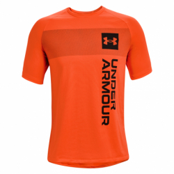 Pánske tréningové tričko s krátkym rukávom UNDER ARMOUR-UA TECH 2.0 VERT WRDMRK SS-ORG