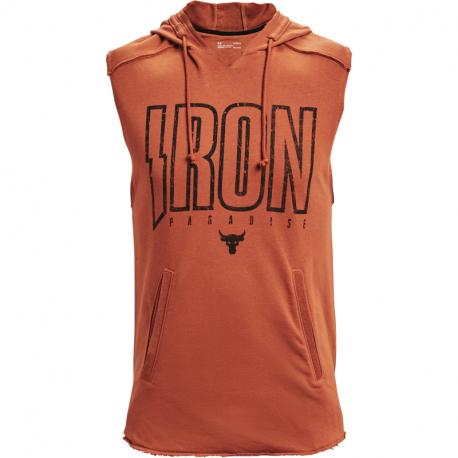 Pánské triko bez rukávů UNDER ARMOUR-UA PJT Rock Terry Iron SL HD-ORG