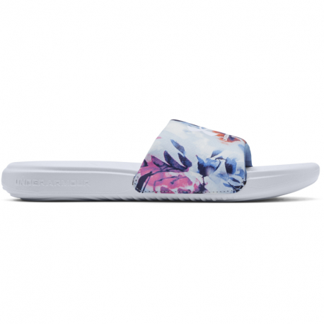 Dámské žabky (plážová obuv) UNDER ARMOUR-UA W Ansa Graphic Slides white (EX)