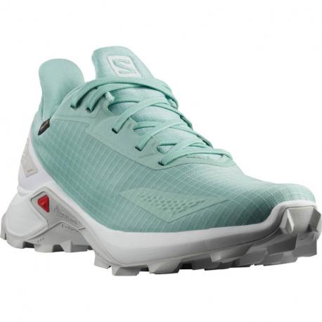 Dámská běžecká trailová obuv Salomon-Alphacross Blast GTX pastel / turquoise