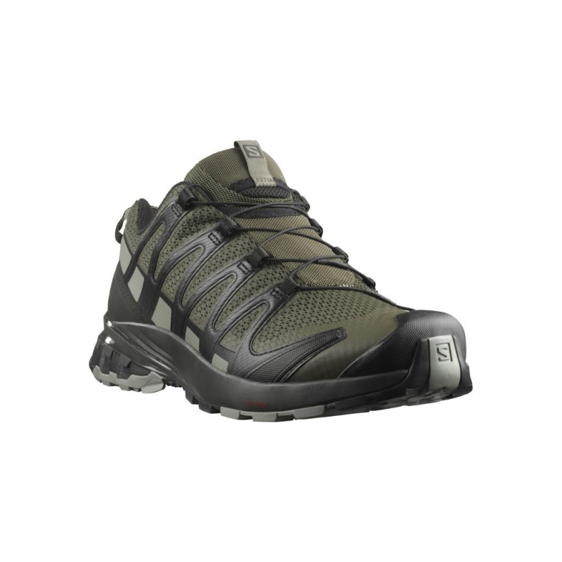 Pánska bežecká trailová obuv SALOMON-XA PRO 3D V8 grape leaf/peat/shad -