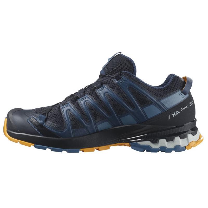 Pánska bežecká trailová obuv SALOMON-XA PRO 3D V8 nisk/dark denim/butte -