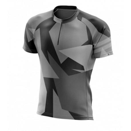Pánský cyklistický dres s krátkým rukávem NORTHFINDER-DEWEROL Black