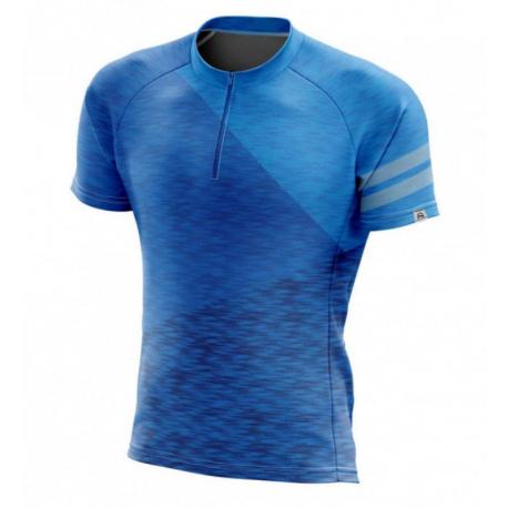 Pánský cyklistický dres s krátkým rukávem NORTHFINDER-DEWEROL Blue