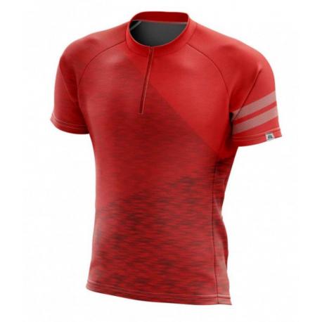 Pánsky cyklistický dres s krátkym rukávom NORTHFINDER-DEWEROL Red