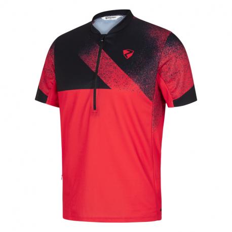 Cyklistický dres s krátkým rukávem ZIENER-PESLER man (tricot) red