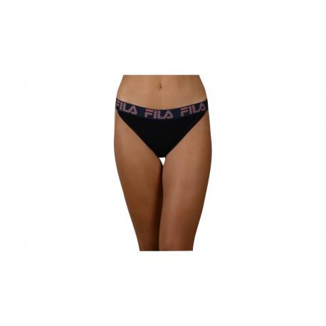 Dámske nohavičky FILA-FU6082 WOMAN BRIEF MICROSTRIPES-200 BLACK