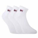 Ponožky FILA-F9303 SOCKS QUARTER PLAIN 3 PACK-300 WHITE -