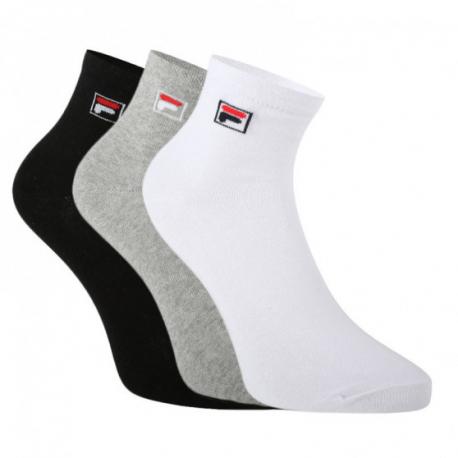 Ponožky FILA-F9303 SOCKS QUARTER PLAIN 3 PACK-700 CLASSIC