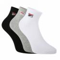 Ponožky FILA-F9303 SOCKS QUARTER PLAIN 3 PACK-700 CLASSIC -