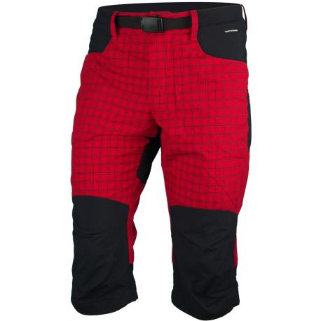 Pánské turistické 3/4 kalhoty NORTHFINDER-BONDGER-361redblack
