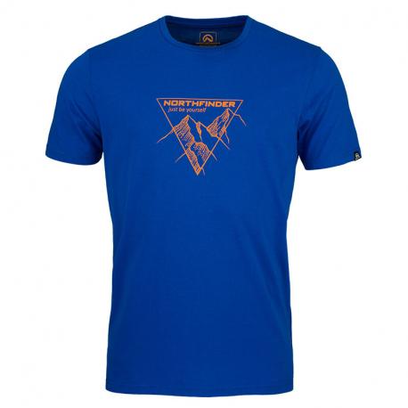 Pánské turistické tričko s krátkým rukávem NORTHFINDER-LUCIANO -281blue