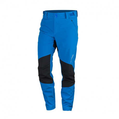 Pánské turistické softshellové kalhoty NORTHFINDER-KETHEN-282blueblack