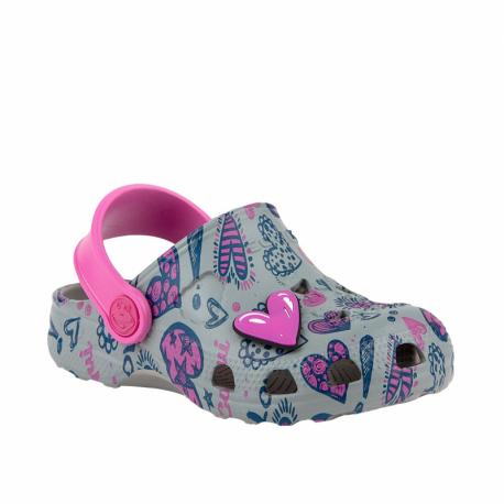 Detské kroksy (rekreačná obuv) COQUI-Little Frog grey/fuchsia