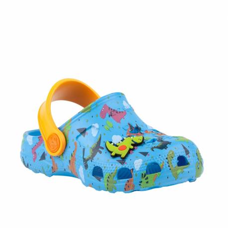 Dětské kroksy (rekreační obuv) COQUI-Little Frog light blue / light orange