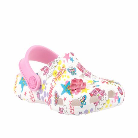 Dětské kroksy (rekreační obuv) COQUI-Little frog white / pink