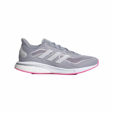 Dámská běžecká obuv ADIDAS-Supernova W halo silver / cloud white / screaming pink